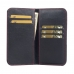 OPPO R17 Leather Wallet Pouch Case (Red Stitch) protective carrying case by PDair