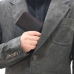 OPPO R17 Leather Wallet Pouch Case (Red Stitch) genuine leather case by PDair