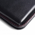 Samsung Galaxy C7 Leather Wallet Pouch Case (Red Stitch) offers worldwide free shipping by PDair