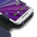 Moto G 3rd Gen 2015 Leather Flip Cover (Purple) custom degsined carrying case by PDair
