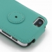 iPhone SE Leather Flip Top Case (Aqua) protective carrying case by PDair