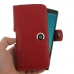 LG G4 H815 Leather Holster Case (Red) genuine leather case by PDair