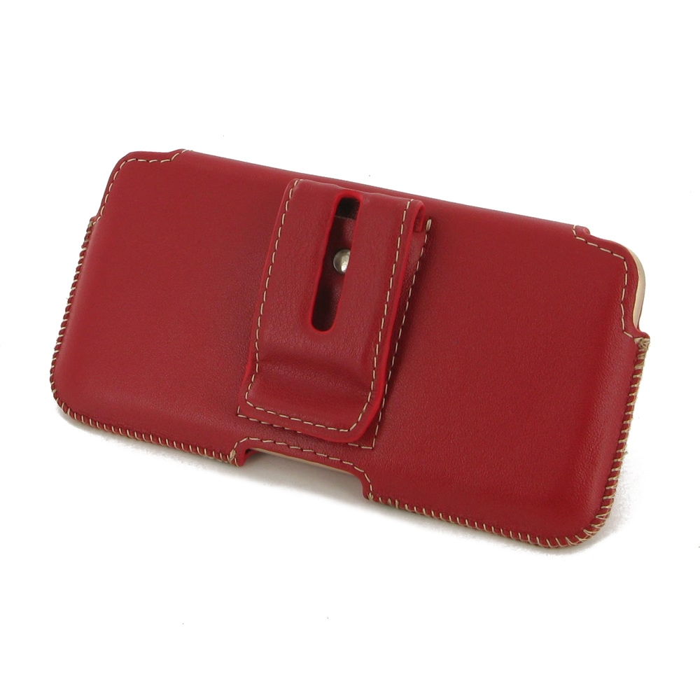 iphone 6 6s leather holster pouch case red pdair. Black Bedroom Furniture Sets. Home Design Ideas