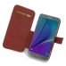 Samsung Galaxy Note 5 Leather Flip Cover (Red) genuine leather case by PDair