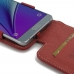 Samsung Galaxy Note 5 Leather Flip Top Case (Red) top quality leather case by PDair