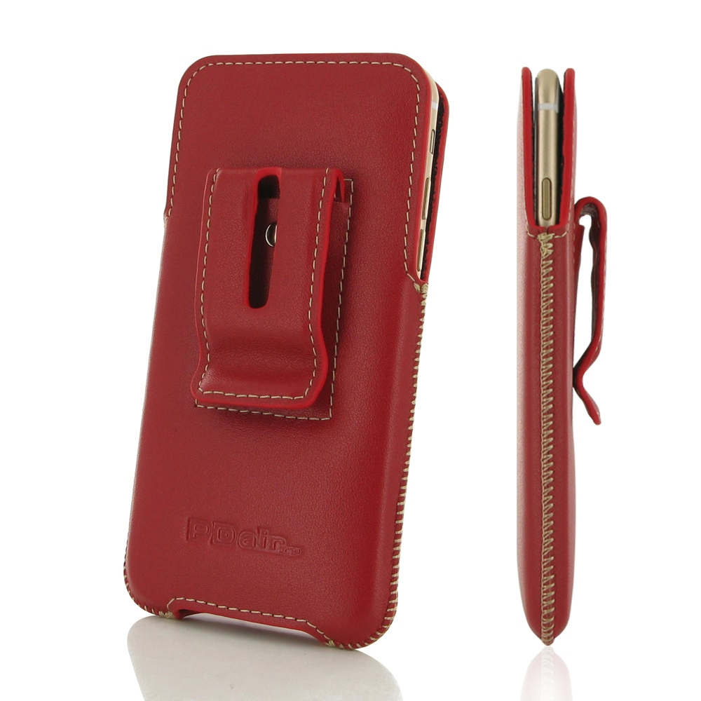 iphone 6 6s plus luxury pouch case with belt clip red pdair pouch. Black Bedroom Furniture Sets. Home Design Ideas