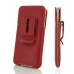 iPhone 8 Luxury Pouch Case with Belt Clip (Red) handmade leather case by PDair
