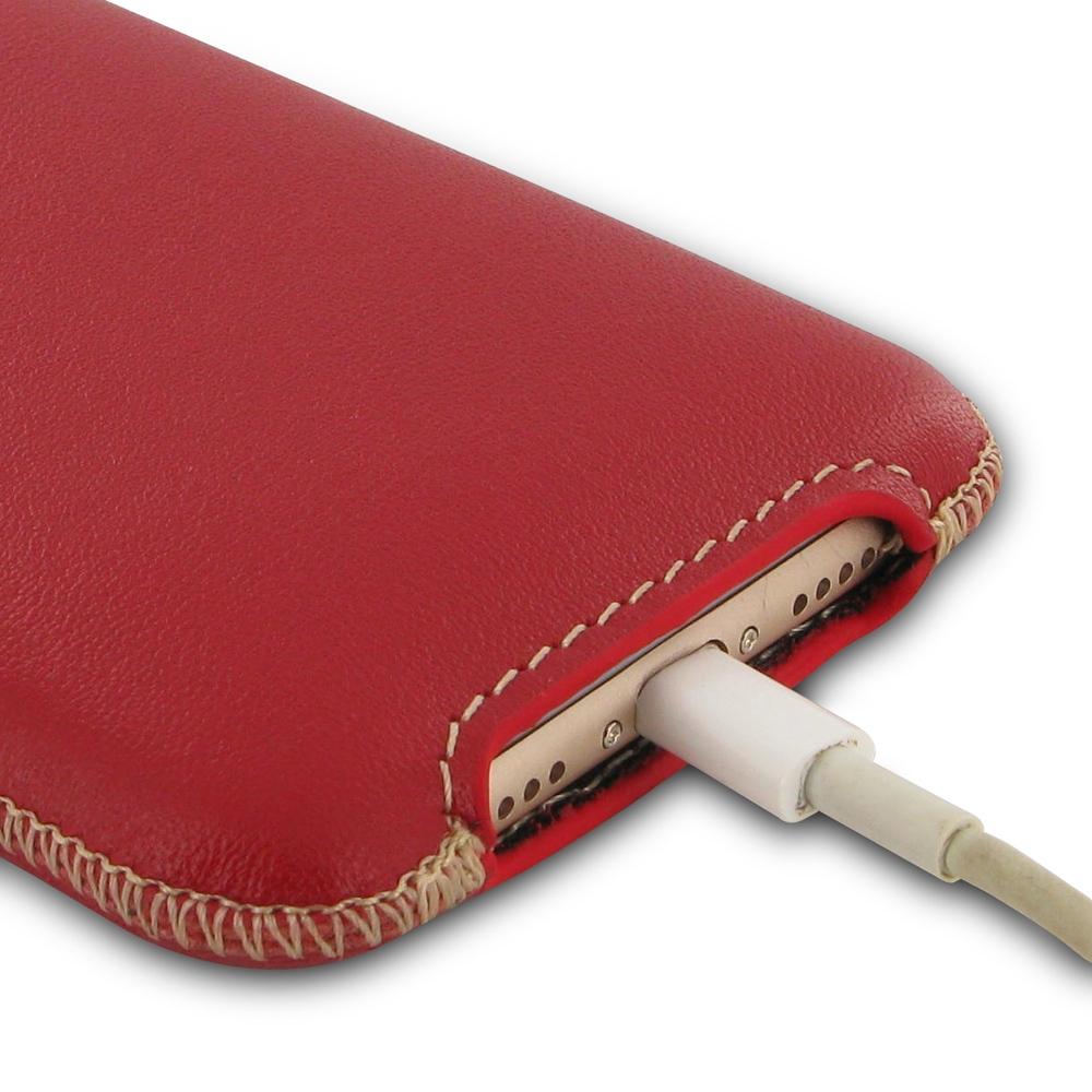 Iphone 7 Plus Leather Pocket Pouch Red Pdair Sleeve