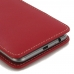 LG X cam Leather Sleeve Pouch Case (Red) genuine leather case by PDair