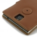 BlackBerry Passport Leather Flip Cover (Brown) protective carrying case by PDair