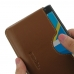 BlackBerry Priv Leather Wallet Sleeve Case (Brown) top quality leather case by PDair