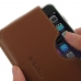 iPhone 6 6s (in Slim Cover) Leather Wallet Sleeve Case (Brown) top quality leather case by PDair