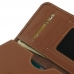 iPhone 8 (in Slim Cover) Leather Wallet Sleeve Case (Brown) genuine leather case by PDair