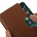 iPhone 8 (in Slim Cover) Leather Wallet Sleeve Case (Brown) top quality leather case by PDair