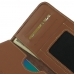 OPPO R9 Leather Wallet Sleeve Case (Brown) genuine leather case by PDair