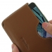 Samsung Galaxy A5 2016 Leather Wallet Sleeve Case (Brown) top quality leather case by PDair