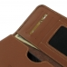 Samsung Galaxy C5 Leather Wallet Sleeve Case (Brown) genuine leather case by PDair
