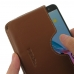 ZTE Blade V7 / Small Fresh 4 Leather Wallet Sleeve Case (Brown) top quality leather case by PDair