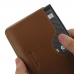 BlackBerry KEY2 Leather Wallet Sleeve Case (Brown) top quality leather case by PDair