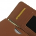 Pepsi Phone P1 P1s Leather Wallet Sleeve Case (Brown) genuine leather case by PDair