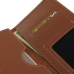 Samsung Galaxy On7 2016 Leather Wallet Sleeve Case (Brown) genuine leather case by PDair