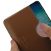 Samsung Galaxy S10 (in Slim Cover) Leather Wallet Sleeve Case (Brown) handmade leather case by PDair