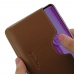 Huawei Enjoy 9 Plus Leather Wallet Sleeve Case (Brown) handmade leather case by PDair