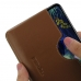 LG V50 ThinQ 5G Leather Wallet Sleeve Case (Brown) handmade leather case by PDair