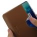 OnePlus 7T Pro Leather Wallet Sleeve Case (Brown) handmade leather case by PDair