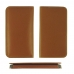 Samsung Galaxy A8 Plus (2018) Leather Wallet Sleeve Case (Brown) protective carrying case by PDair