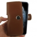 iPhone 11 Pro (in Slim Cover) Holster Case (Brown) handmade leather case by PDair