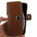 iPhone XS (in Slim Cover) Holster Case (Brown) handmade leather case by PDair