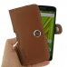 Moto X Play Leather Holster Case (Brown) genuine leather case by PDair