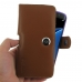 Samsung Galaxy S7 edge (in Slim Cover) Holster Case (Brown) genuine leather case by PDair
