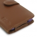 Samsung Galaxy S7 edge (in Slim Cover) Holster Case (Brown) top quality leather case by PDair