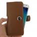 Samsung Galaxy J7 Leather Holster Case (Brown) genuine leather case by PDair