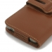 Samsung Galaxy S6 edge+ Plus (in Slim Cover) Holster Case (Brown) top quality leather case by PDair