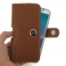 Samsung Galaxy Note 5 (in Slim Cover) Holster Case (Brown) genuine leather case by PDair