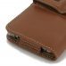 Samsung Galaxy Note 5 (in Slim Cover) Holster Case (Brown) top quality leather case by PDair