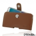 Samsung Galaxy Note 5 (in Slim Cover) Holster Case (Brown) custom degsined carrying case by PDair