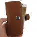 Samsung Galaxy On5 2016 Leather Holster Case (Brown) genuine leather case by PDair