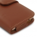 Samsung Galaxy On5 2016 Leather Holster Case (Brown) top quality leather case by PDair