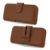 Samsung Galaxy J3 (2017) Leather Holster Case (Brown) protective carrying case by PDair