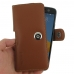 HTC 10 Leather Holster Case (Brown) genuine leather case by PDair