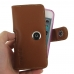 iPhone SE (in Slim Cover) Holster Case (Brown) genuine leather case by PDair