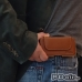 BlackBerry KEY2 Leather Holster Pouch Case (Brown) genuine leather case by PDair