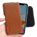 iPhone 11 Leather Holster Pouch Case (Brown) is custom designed to allow you to carry your device on belt easily. You can remove your device anytime by the opening at the bottom. Luxury slim design with full protection and added comfort leather belt clip