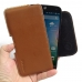 Acer Liquid Z630 Leather Holster Pouch Case (Brown) genuine leather case by PDair