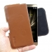Asus Zenfone 3 Deluxe Leather Holster Pouch Case (Brown) genuine leather case by Pdair