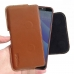 HTC Desire 12s Leather Holster Pouch Case (Brown) handmade leather case by PDair